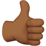 Thumbs Up Emoji with a Medium-Dark Skin Tone, Apple style