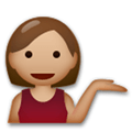 Person Tipping Hand Emoji with a Medium Skin Tone, LG style