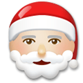 Santa Claus Emoji with a Medium-Light Skin Tone, LG style