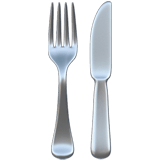 Fork and Knife Emoji, Apple style