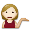 Person Tipping Hand Emoji with a Medium-Light Skin Tone, LG style