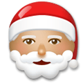 Santa Claus Emoji with a Medium Skin Tone, LG style