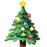 Christmas Tree Emoji, Apple style
