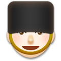Guard Emoji with a Light Skin Tone, LG style
