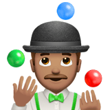 Man Juggling Emoji with a Medium Skin Tone, Apple style