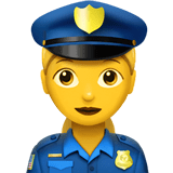 Woman Police Officer Emoji, Apple style