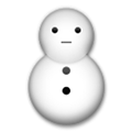 Snowman Without Snow Emoji, LG style