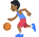 Person Bouncing Ball Emoji with Medium-Dark Skin Tone, Facebook style