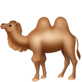 Two-Hump Camel Emoji, Apple style
