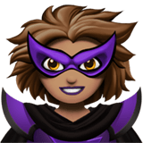 Supervillain Emoji with Medium Skin Tone, Apple style