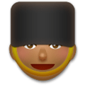 Guard Emoji with Medium-Dark Skin Tone, LG style