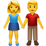 Man and Woman Holding Hands Emoji, Apple style