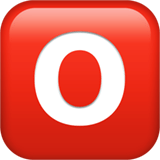 o Button (Blood Type) Emoji, Apple style