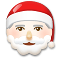 Santa Claus Emoji with a Light Skin Tone, LG style