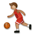 Person Bouncing Ball Emoji with Medium Skin Tone, LG style