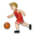 Person Bouncing Ball Emoji with a Medium-Light Skin Tone, LG style