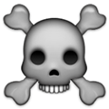 Skull and Crossbones Emoji, Facebook style