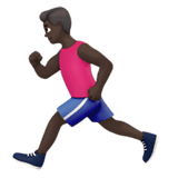 Person Running Emoji with Dark Skin Tone, Apple style