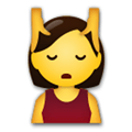Face Massage Emoji / Person Getting Massage Emoji, LG style