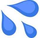 Sweat Droplets Emoji, Facebook style