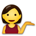 Person Tipping Hand Emoji, LG style
