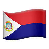 Flag of Sint Maarten Emoji, Apple style
