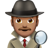 Man Detective Emoji with a Medium Skin Tone, Apple style