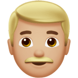 Man Emoji with a Medium-Light Skin Tone, Apple style