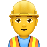 Man Construction Worker Emoji, Apple style