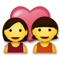 Couple with Heart: Woman, Woman Emoji, LG style