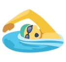 Swimmer Emoji / Person Swimming Emoji, Facebook style