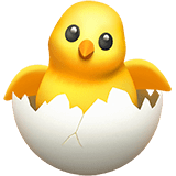 Hatching Chick Emoji, Apple style