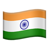 Flag: India Emoji, Apple style