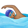 Man Swimming Emoji with a Medium Skin Tone, Samsung style