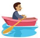 Person Rowing Boat Emoji with a Medium Skin Tone, Facebook style