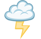 Cloud with Lightning Emoji, Facebook style