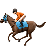 Horse Racing Emoji with Light Skin Tone, Apple style
