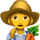 Woman Farmer Emoji, Apple style
