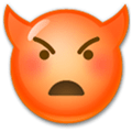 Imp Emoji / Angry Face with Horns Emoji, LG style