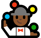 Person Juggling Emoji with a Medium-Dark Skin Tone, Microsoft style
