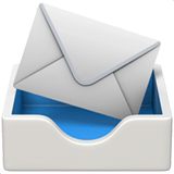 Incoming Envelope Emoji, Apple style