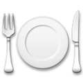 Fork and Knife with Plate Emoji, LG style