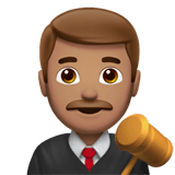 Man Judge Emoji with a Medium Skin Tone, Apple style