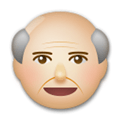 Old Man Emoji with a Medium-Light Skin Tone, LG style