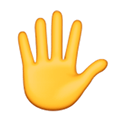 Raised Hand with Fingers Splayed Emoji, Facebook style