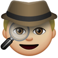 Detective Emoji with a Medium-Light Skin Tone, LG style