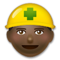 Construction Worker Emoji with a Dark Skin Tone, LG style