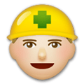 Construction Worker Emoji with Medium-Light Skin Tone, LG style