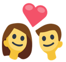 Couple with Heart Emoji, Facebook style