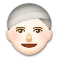 Person Wearing Turban Emoji with a Light Skin Tone, LG style